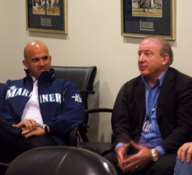 Pedro Grifol, Director of Player Development and Carmen Fusco, Director of Pro Scouting