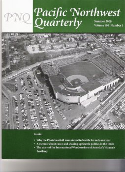 Pacific NW Quarterly Summer 2009 Cover - Sick Stadium, Seattle